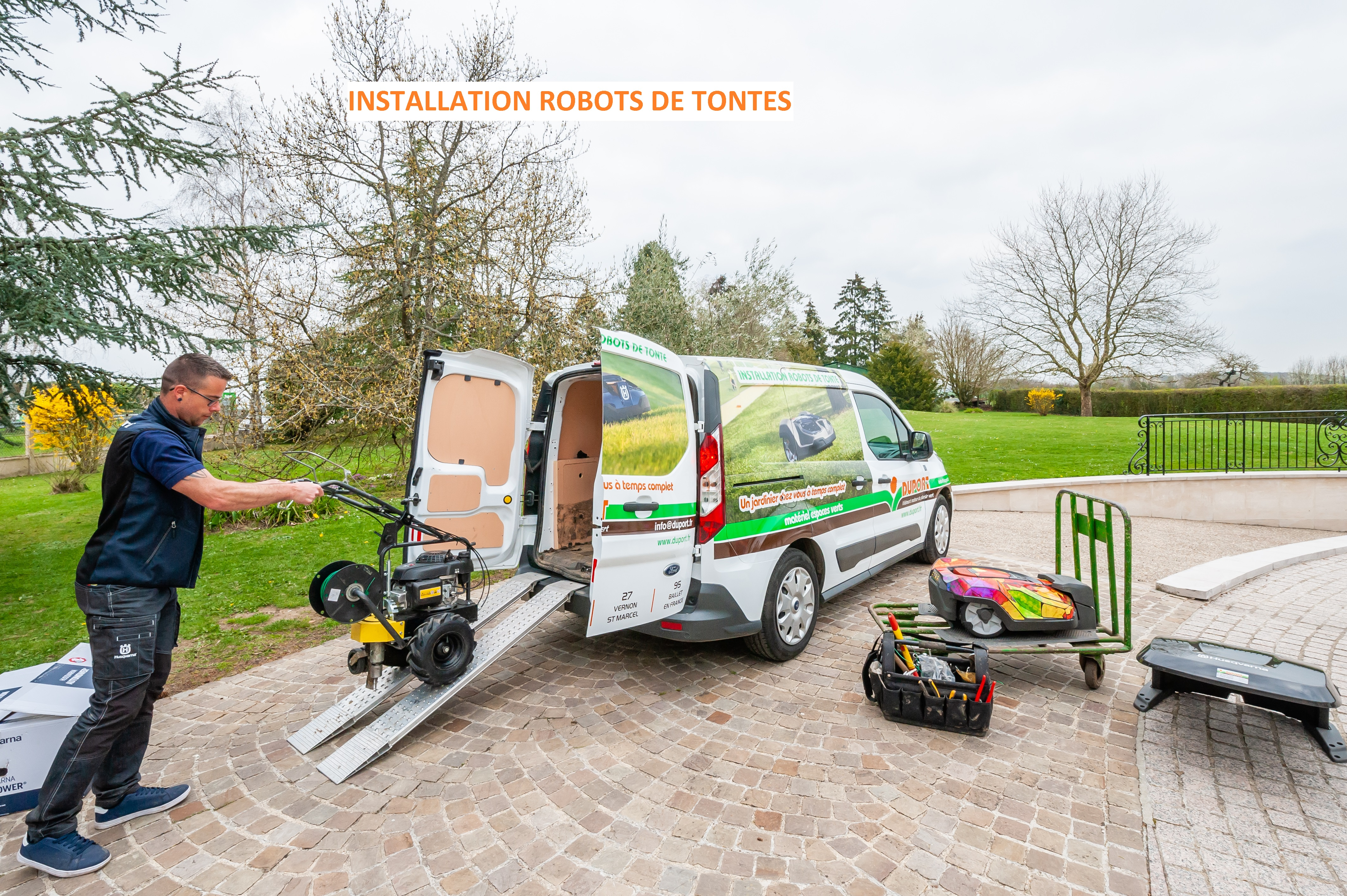 installation robot tonte duport